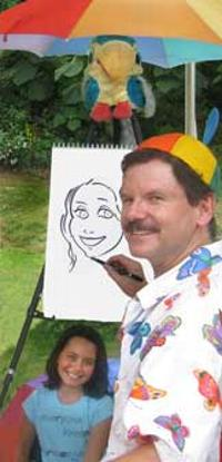 David draws a caricature